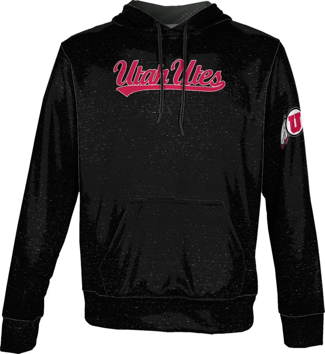 University of Utah Men's Pullover Hoodie - Heathered