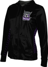 Load image into Gallery viewer, Weber State University: Girls' Full Zip Hoodie - Geometric
