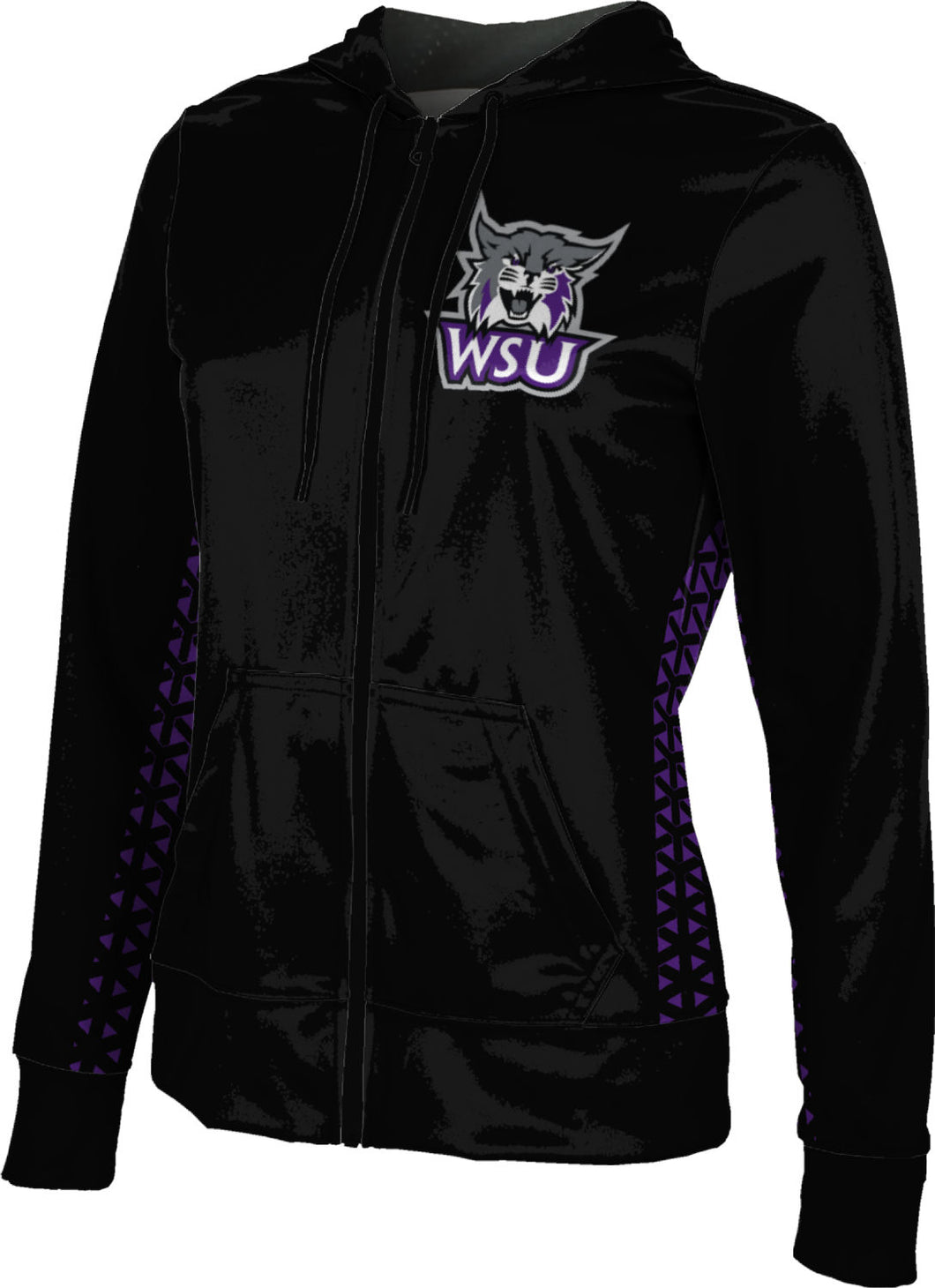 Weber State University: Girls' Full Zip Hoodie - Geometric