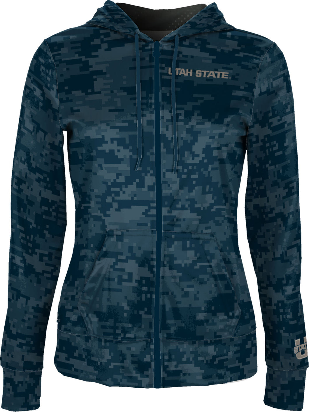 Utah State University: Women's Full Zip Hoodie - Digital
