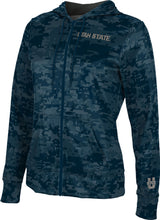 Load image into Gallery viewer, Utah State University: Women's Full Zip Hoodie - Digital