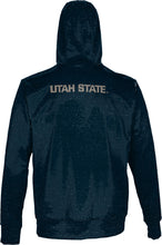 Load image into Gallery viewer, Utah State University: Men's Full Zip Hoodie - Heathered