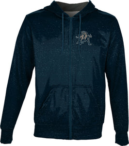Utah State University: Men's Full Zip Hoodie - Heathered