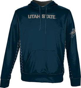 Utah State University: Men's Pullover Hoodie - Geometric
