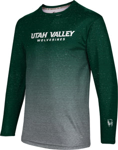 Utah Valley University: Men's Long Sleeve Tee - Ombre