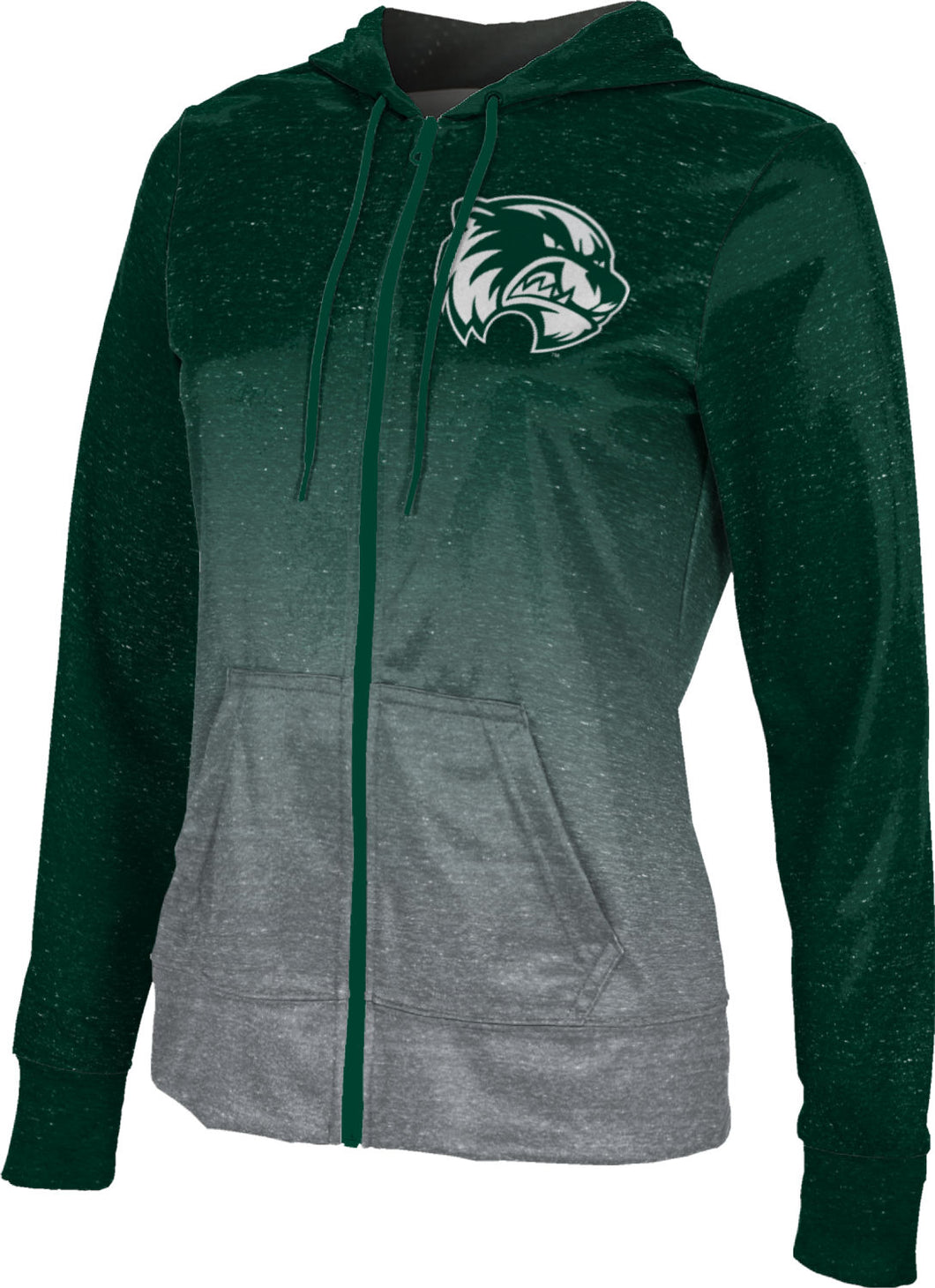 Utah Valley University: Women's Full Zip Hoodie - Gradient