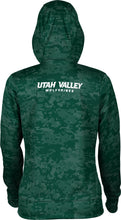 Load image into Gallery viewer, Utah Valley University: Women's Pullover Hoodie - Digi Camo