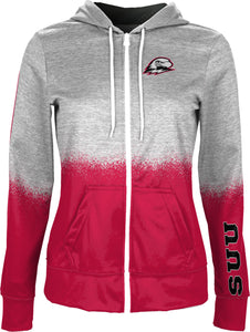 Southern Utah University: Girls' Full Zip Hoodie - Spray