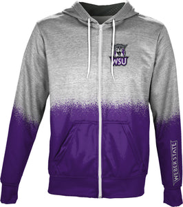 Weber State University: Men's Full Zip Hoodie - Spray