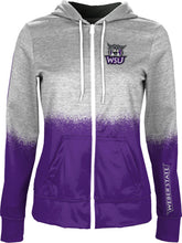 Load image into Gallery viewer, Weber State University: Women's Full Zip Hoodie - Spray
