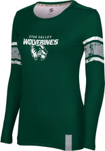 Load image into Gallery viewer, Utah Valley University: Women's Long Sleeve Tee - End Zone