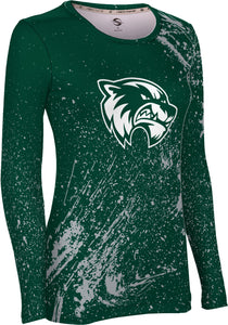 Utah Valley University: Women's Long Sleeve Tee - Splatter