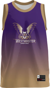 Westminster College: Adult Replica Basketball Fan Jersey - Ombre