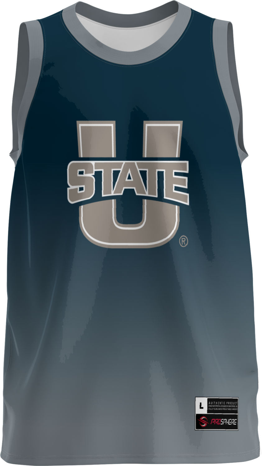 Utah State University Adult Replica Basketball Fan Jersey - Ombre