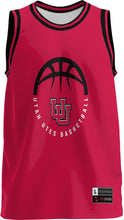 Load image into Gallery viewer, University of Utah Adult Replica Basketball Fan Jersey - Retro