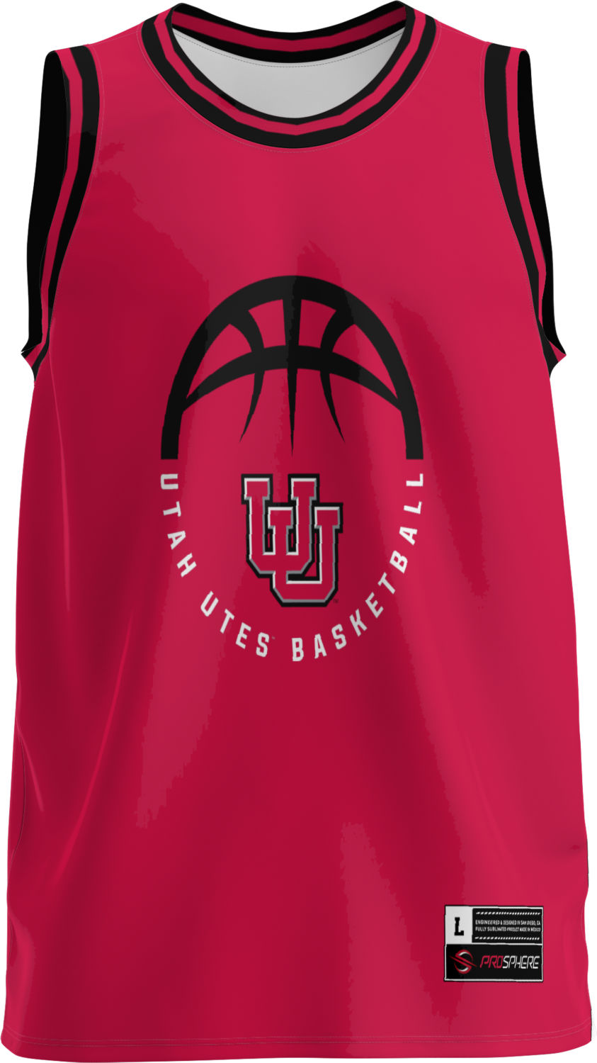 University of Utah Adult Replica Basketball Fan Jersey - Retro