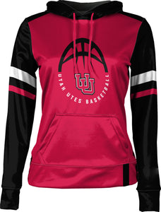 University of Utah: Girls' Basketball Pullover Hoodie - Old School