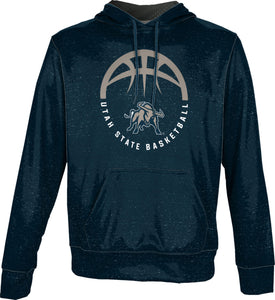 Utah State University: Boys' Basketball Pullover Hoodie - Heather
