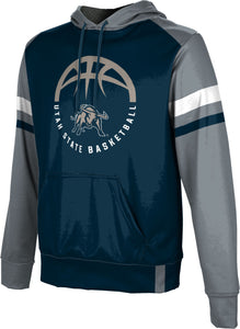 Utah State University: Boys' Basketball Pullover Hoodie - Old School