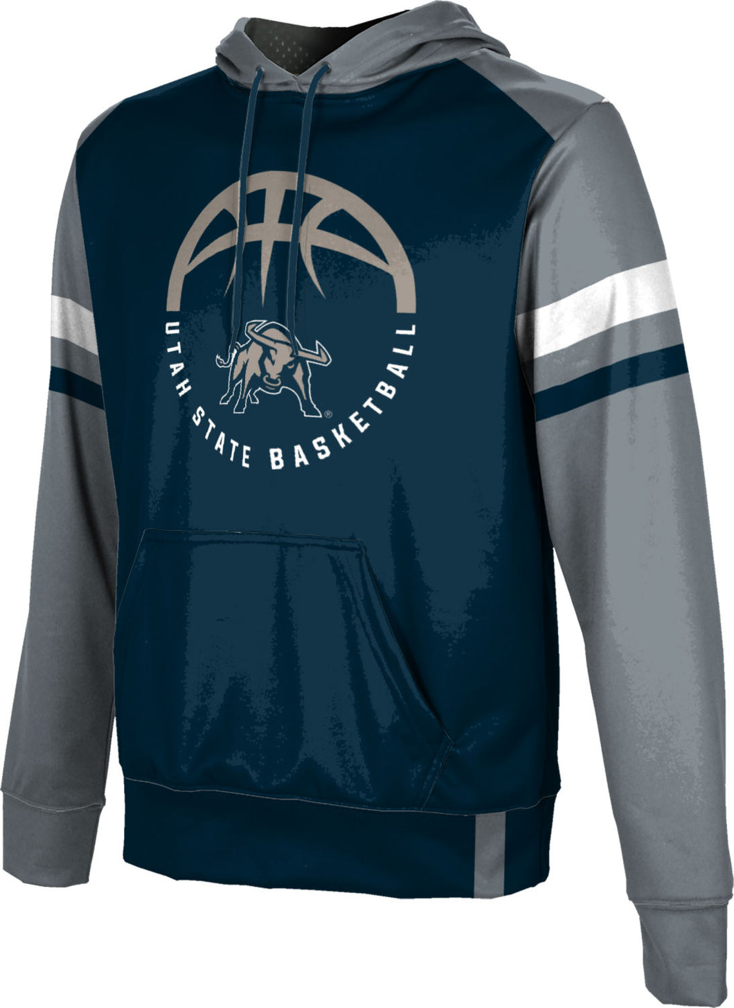 Utah State University: Men's Basketball Pullover Hoodie - Old School