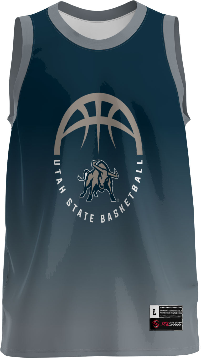 USU Basketball Adult Replica Fan Jersey - Ombre