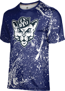 Brigham Young University: Men's T-shirt - Splatter
