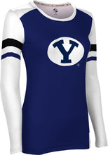 Load image into Gallery viewer, Brigham Young University: Women's Long Sleeve Tee - Old School