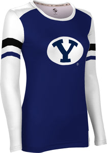 Brigham Young University: Women's Long Sleeve Tee - Old School