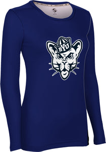 Brigham Young University: Women's Long Sleeve Tee - Solid
