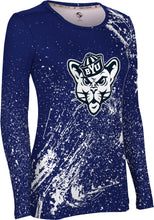 Load image into Gallery viewer, Brigham Young University: Women's Long Sleeve Tee - Splatter