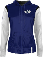 Load image into Gallery viewer, Brigham Young University: Women's Full Zip Hoodie - Tailgate