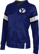 Load image into Gallery viewer, Brigham Young University: Women's Full Zip Hoodie - End Zone
