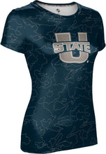 Load image into Gallery viewer, Utah State University: Women's T-shirt - Topography