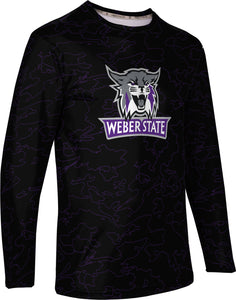 Weber State University: Men's Long Sleeve Tee - Topography