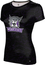 Load image into Gallery viewer, Weber State University: Women's T-shirt - Topography