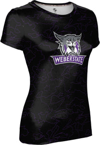 Weber State University: Women's T-shirt - Topography