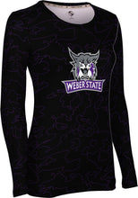 Load image into Gallery viewer, Weber State University: Women's Long Sleeve Tee - Topography