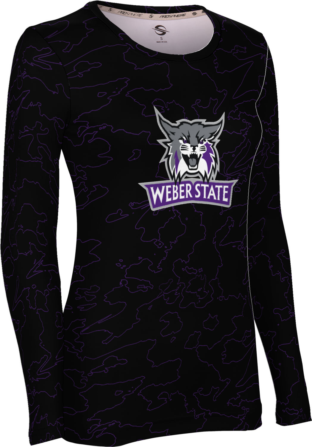 Weber State University: Women's Long Sleeve Tee - Topography