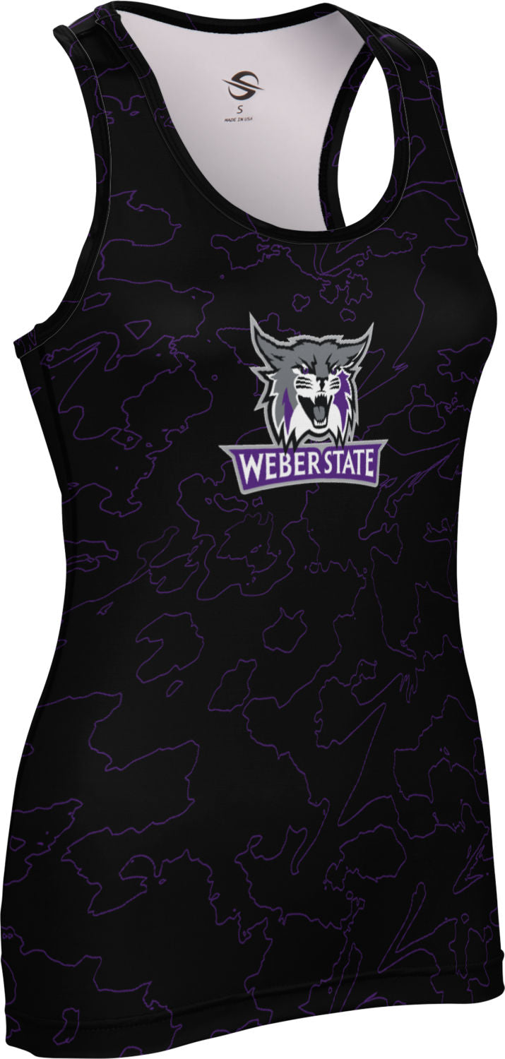 Weber State University: Women's Performance Tank - Topography