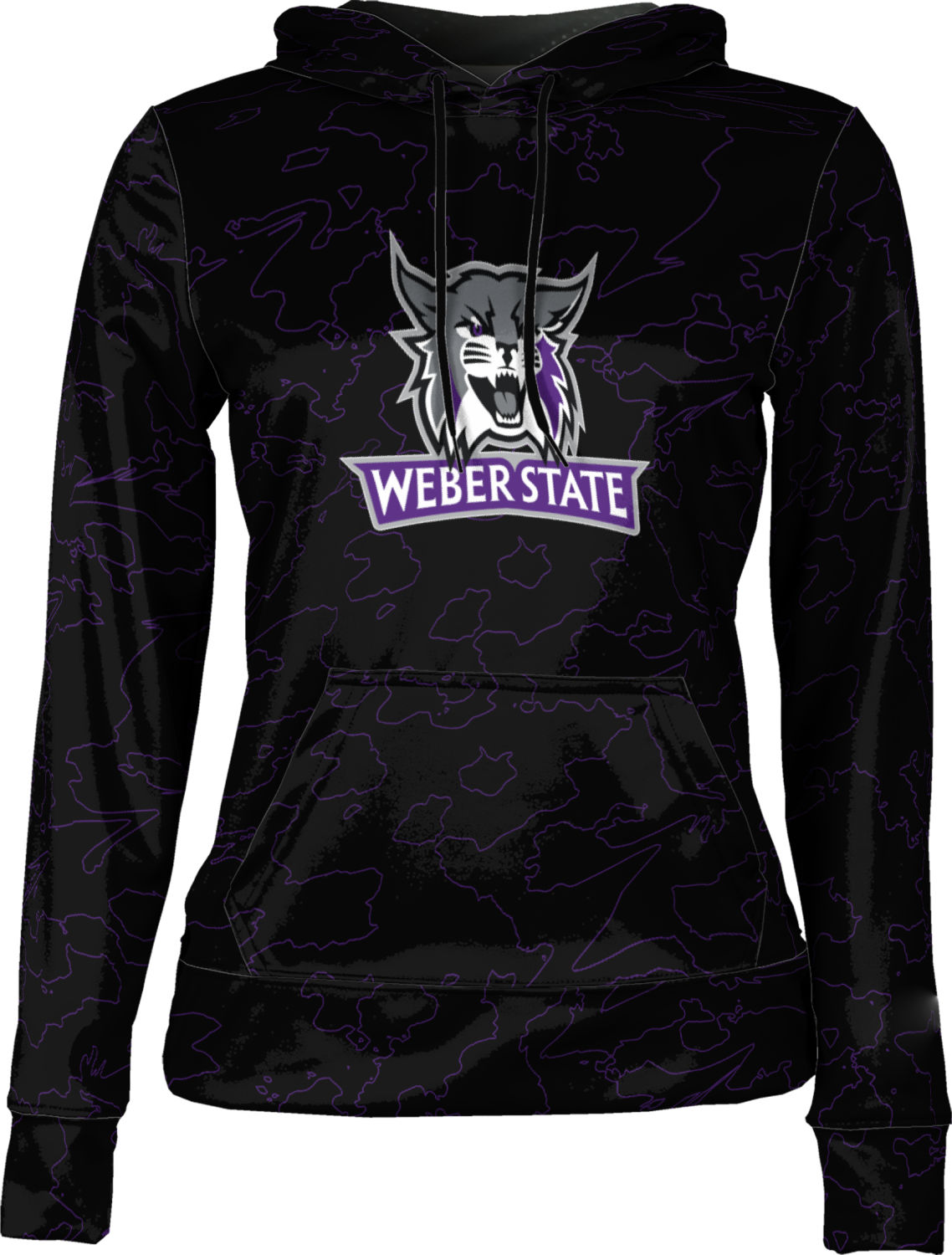 Weber State University: Women's Pullover Hoodie - Topography