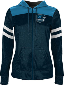 Utah State University Eastern: Girls' Full Zip Hoodie - Game Day