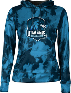 Utah State University Eastern: Girls' Full Zip Hoodie - Grunge