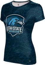 Load image into Gallery viewer, Utah State University Eastern: Women's T-shirt - Topography