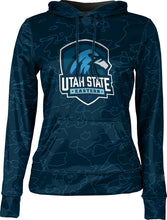 Load image into Gallery viewer, Utah State University Eastern: Women's Pullover Hoodie - Topography