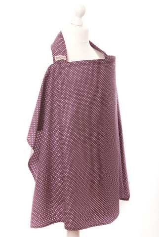 dot breastfeeding cover - plum / ivory