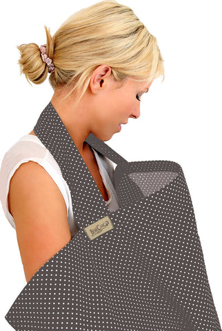 dot breastfeeding cover - slate grey / white