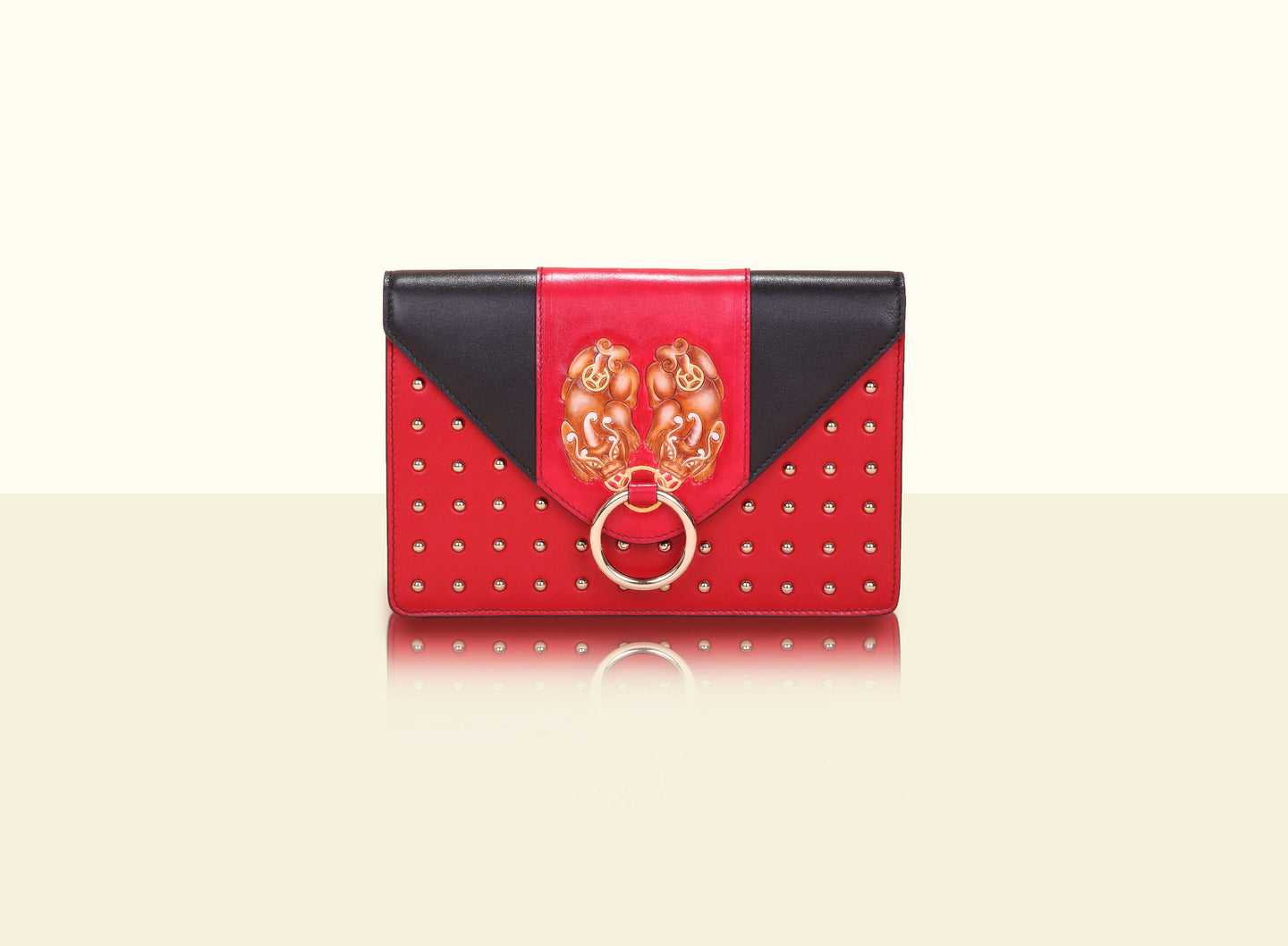 Gate of Guardian Clutch (Small) - Red and Black