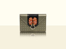 Preorder - Gate of Guardian Clutch (Small) - Metallic Green and Black