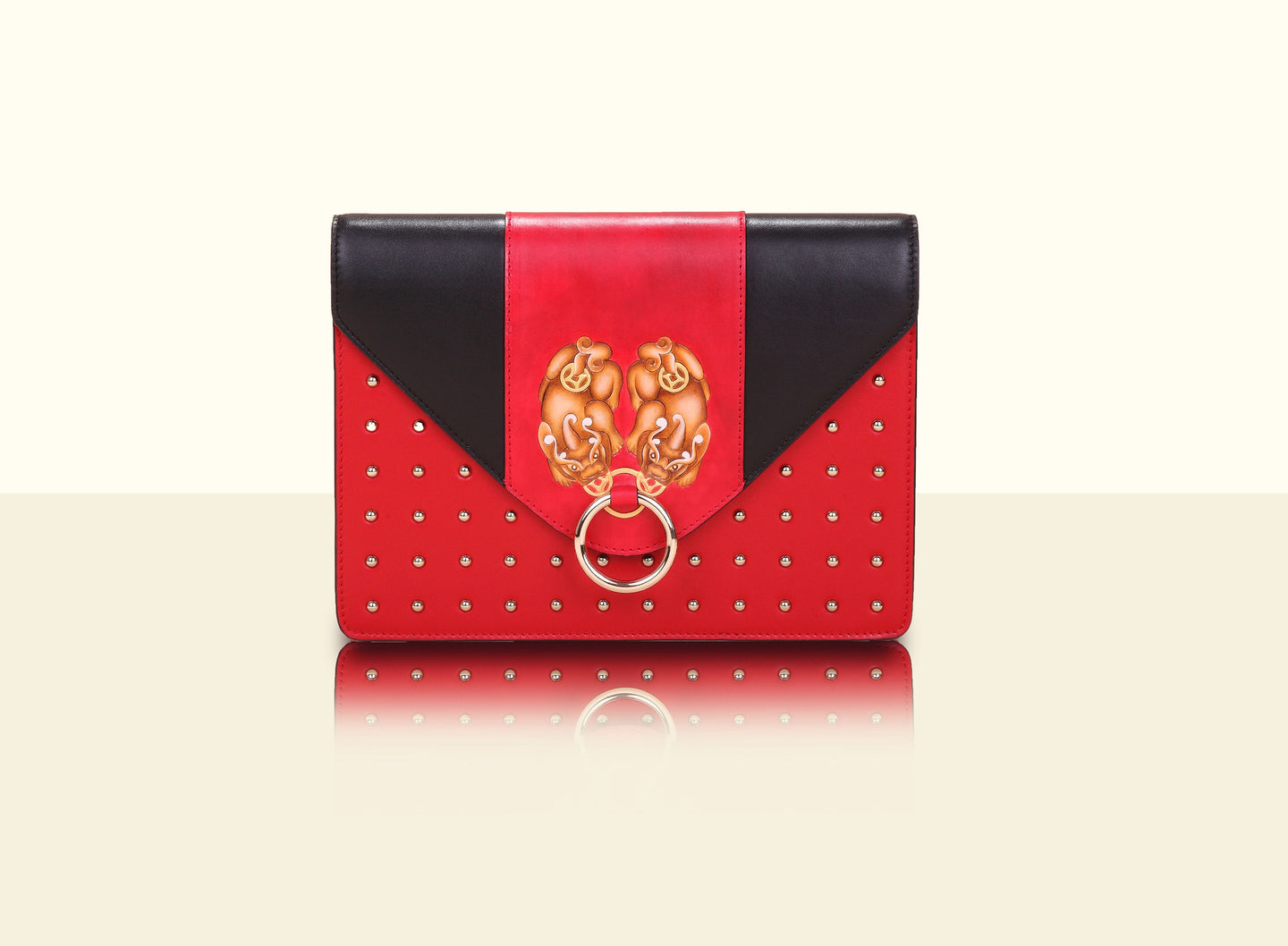 Gate of Guardian Clutch (Large) - Red and Black