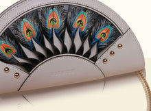 Exquisite Fan Clutch - Smoky Gray and Black